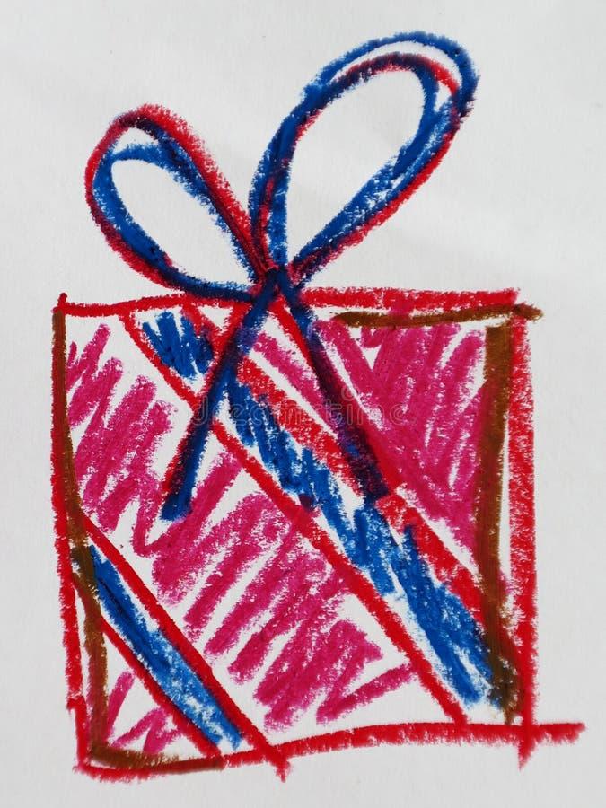 Kolorowa ręka rysujący prezentów pudełka zdjęcie stock