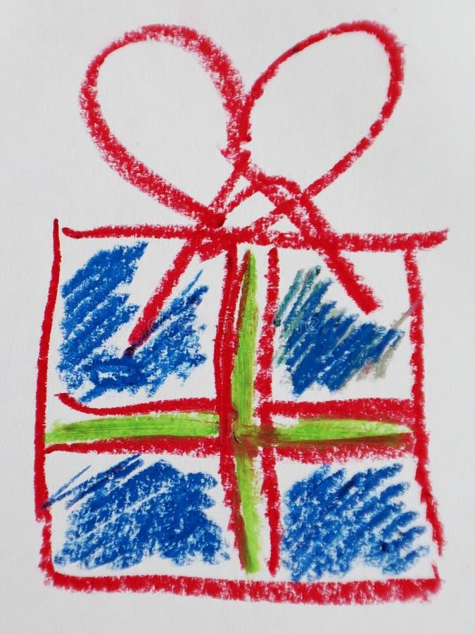 Kolorowa ręka rysujący prezentów pudełka zdjęcia royalty free