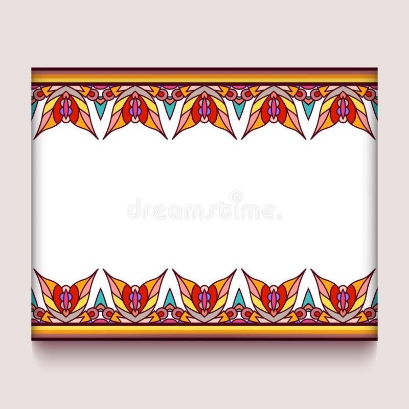 Kolorowa rama z jesień liści granicami royalty ilustracja