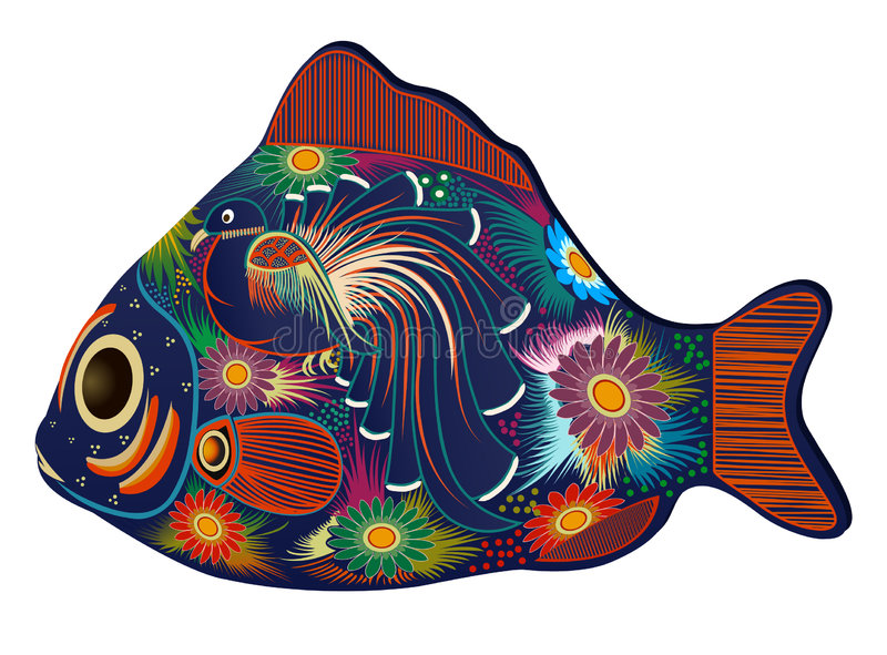 kolorowa ryba royalty ilustracja