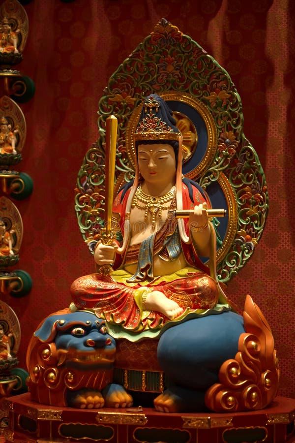 Kolorowa statua Buddha zdjęcia stock