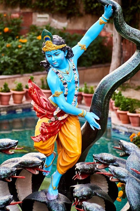 Kolorowa statua Krishna obraz royalty free