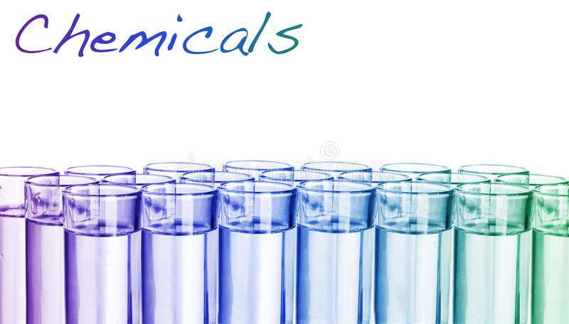 kolorowa substanci chemicznej pipeta zdjęcia stock