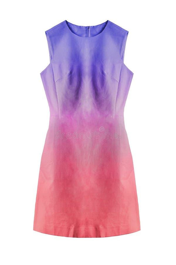 Kolorowa suknia odizolowywająca fotografia stock