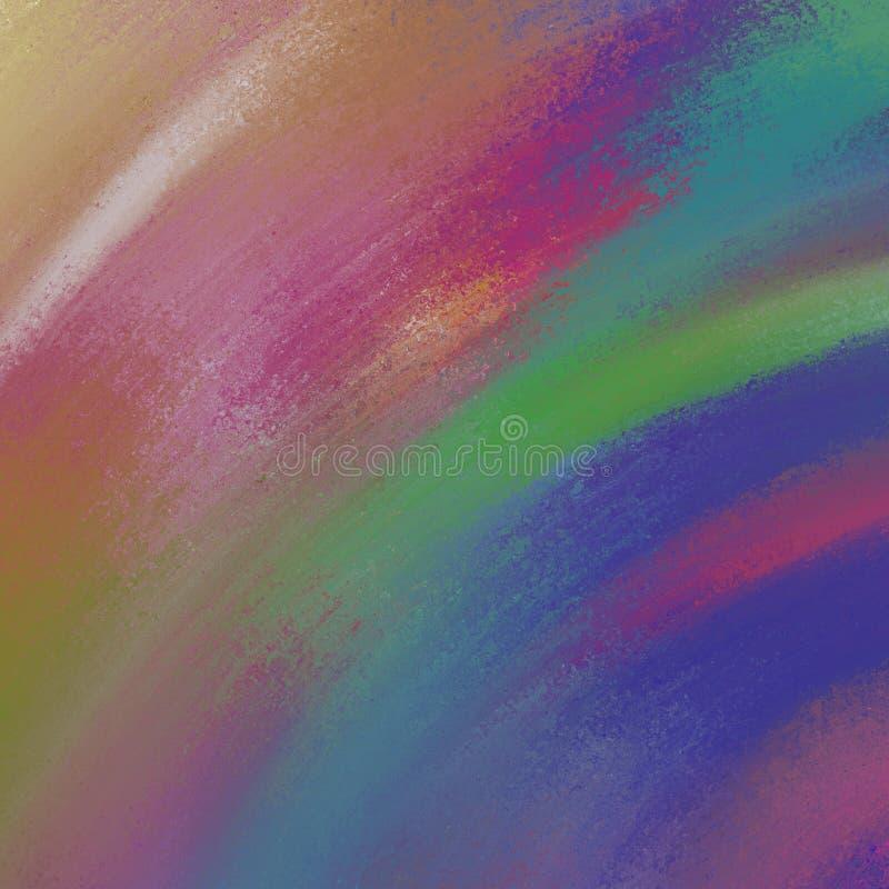 Kolorowa tło farba na abstrakcjonistycznego tło projekta wibrujących jaskrawych kolorach royalty ilustracja