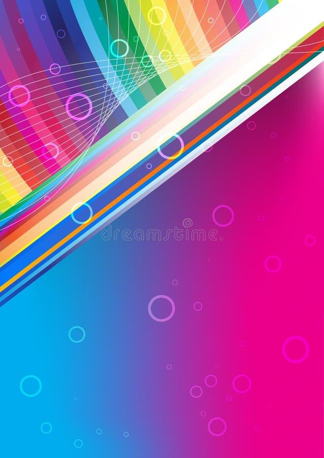 kolorowa tło tęcza ilustracja wektor