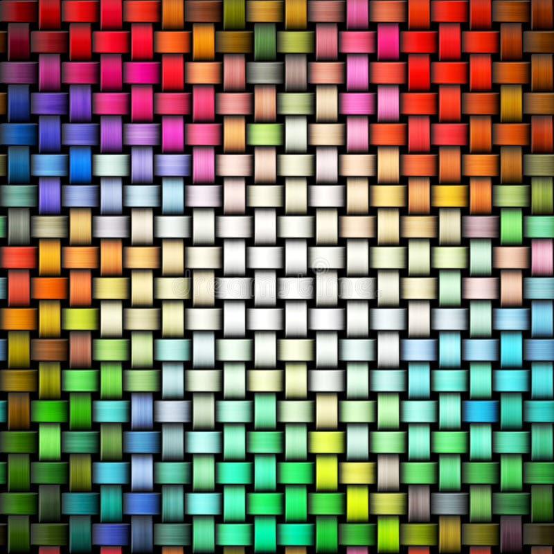 Kolorowa trykotowa tekstura royalty ilustracja