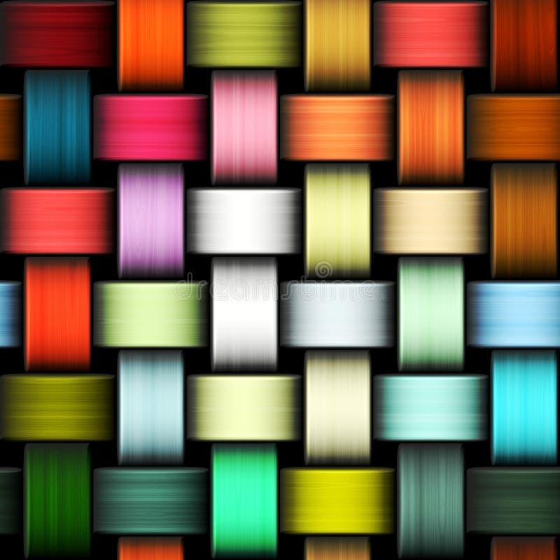 Kolorowa trykotowa tekstura ilustracja wektor