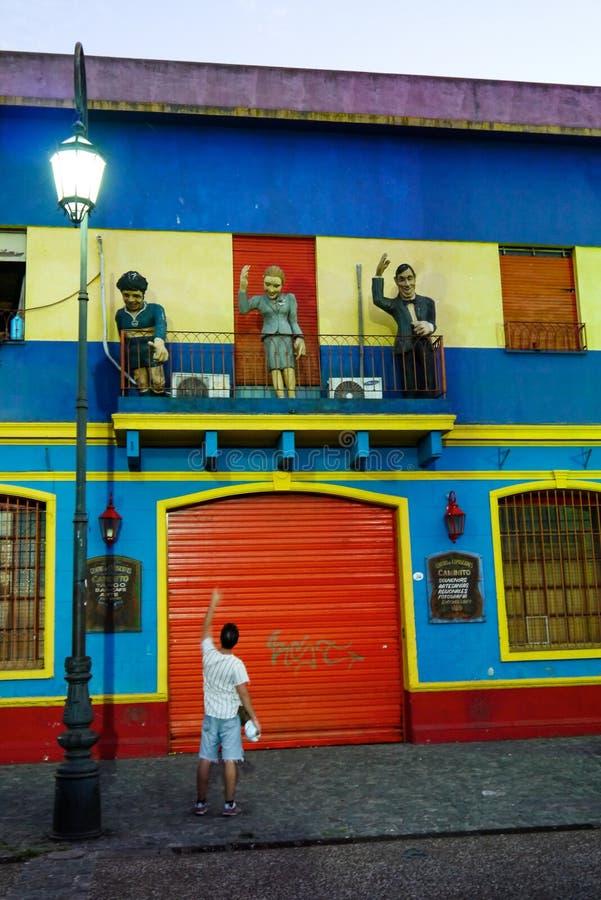 Kolorowa ulica w Boca okręgu Buenos Aires obraz royalty free