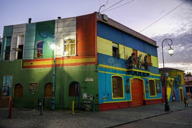 Kolorowa ulica w Boca okręgu Buenos Aires zdjęcie royalty free