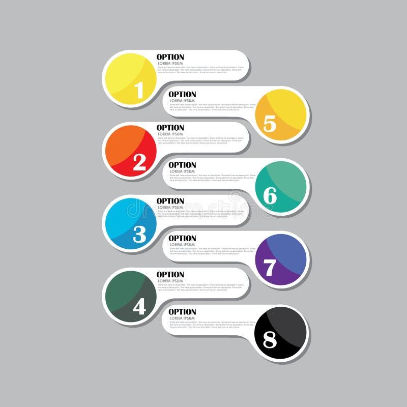 Kolorowa wektorowa projekta szablonu ikona dla infographics ilustracja wektor