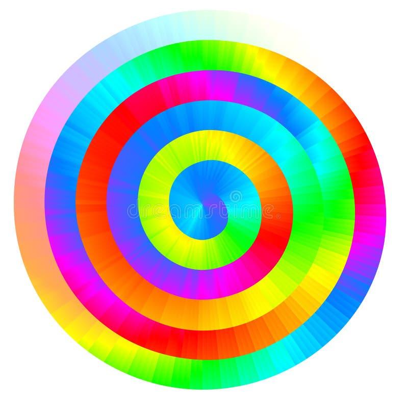 Kolorowa wektorowa tęczy spirala royalty ilustracja