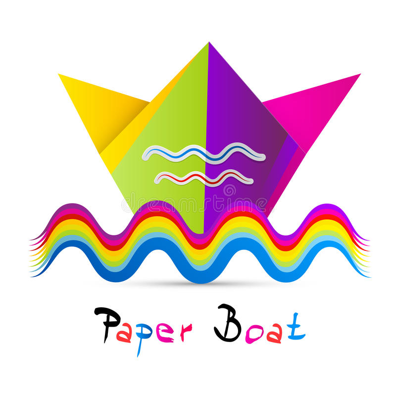 Download Kolorowa Wektoru Papieru łódź Ilustracji - Ilustracja złożonej z greenbacks, origami: 57656074