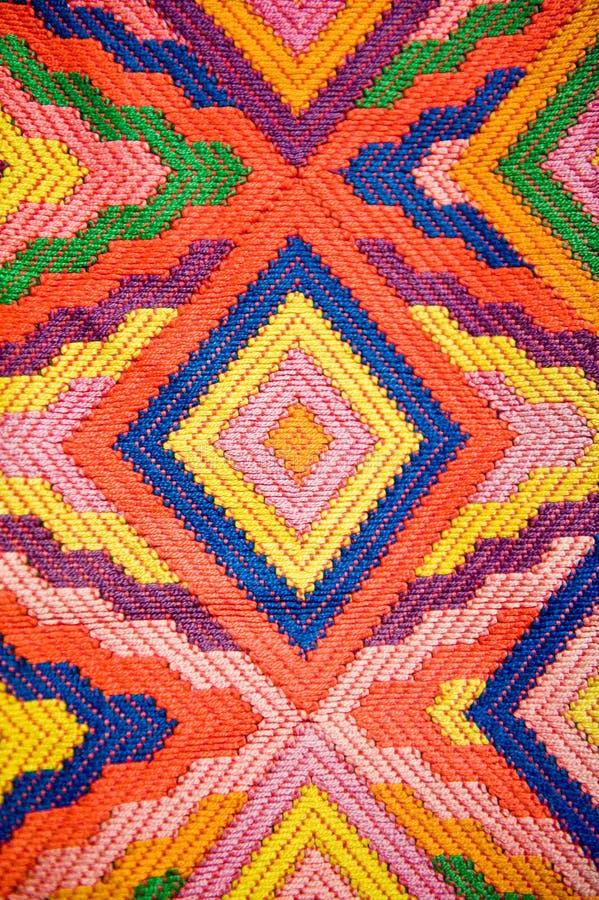 kolorowa wzorzysta tkanina fotografia stock