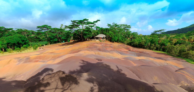 Kolorowa ziemia Mauritius obraz stock