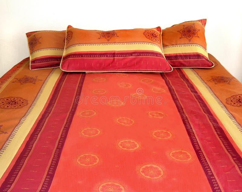 Kolorowe łóżko Obraz Stock