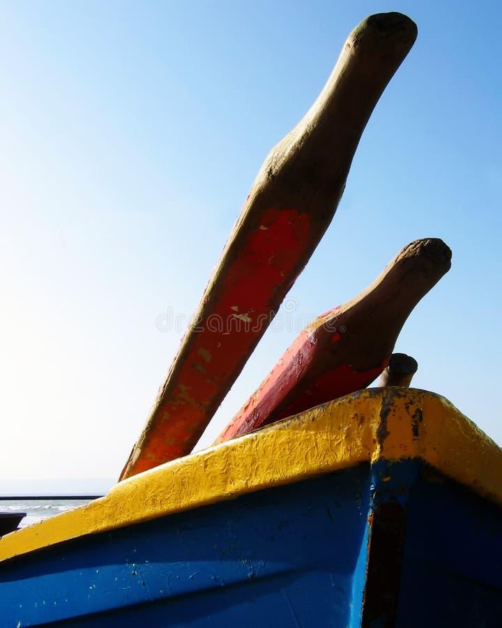 kolorowe łodzi połowowych zdjęcie stock