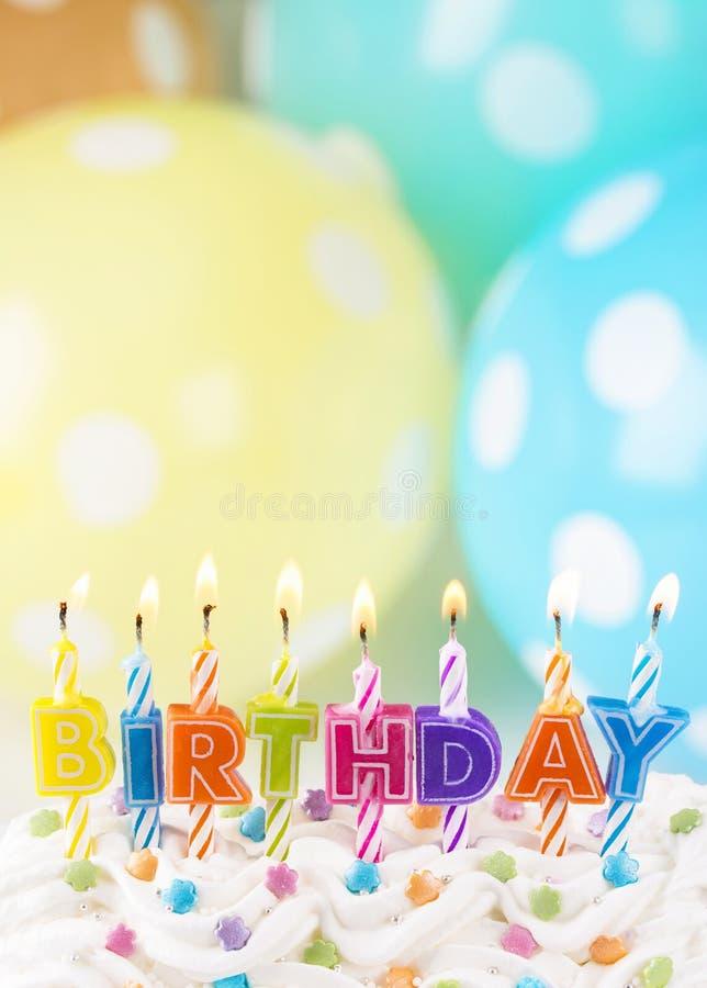 Kolorowe świeczki dla urodziny obraz royalty free