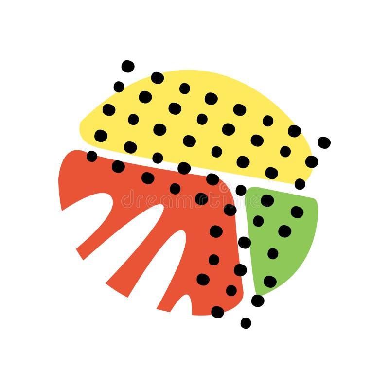 Kolorowe abstrakcjonistyczne geometryczne tekstury, modni kolory i kształta wektoru ilustracja, royalty ilustracja