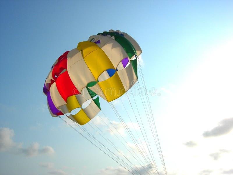 kolorowe balonowy i parasailing zdjęcie stock
