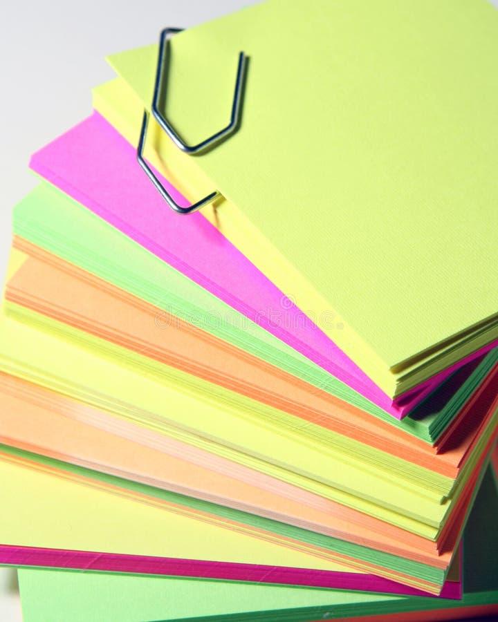 kolorowe biura gazety zdjęcie royalty free