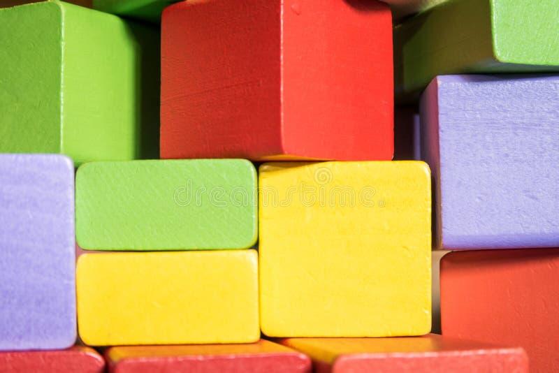Kolorowe blok zabawki obrazy stock