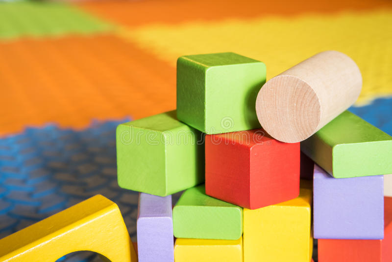Kolorowe blok zabawki obrazy royalty free