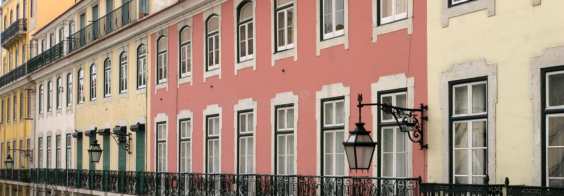 kolorowe budynków zdjęcie royalty free