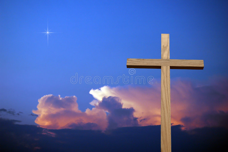 kolorowe cross niebo fotografia royalty free