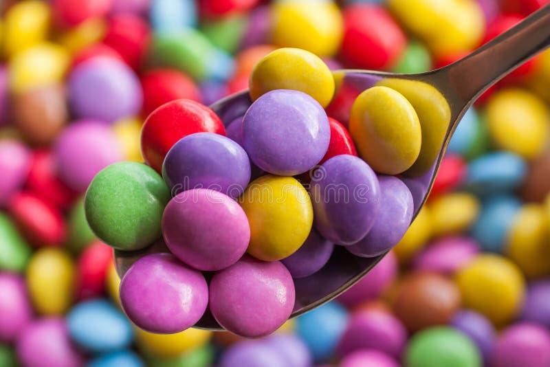 Kolorowe cukierek fasole zdjęcia royalty free
