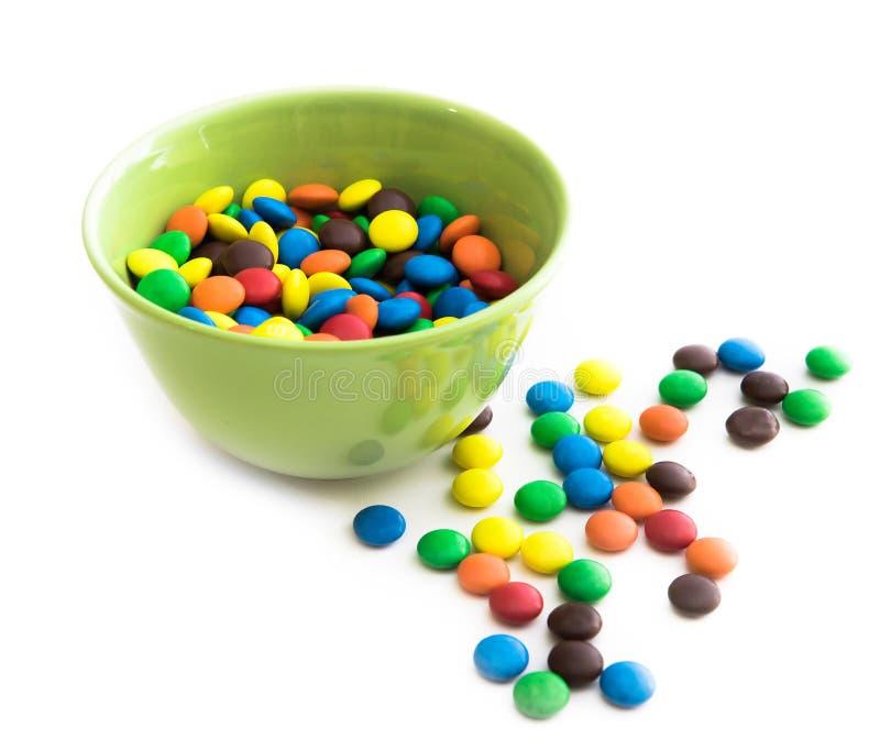 Download Kolorowe cukierki obraz stock. Obraz złożonej z brąz - 53791463