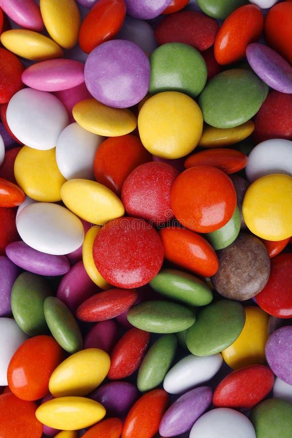 kolorowe cukierki makro obrazy royalty free