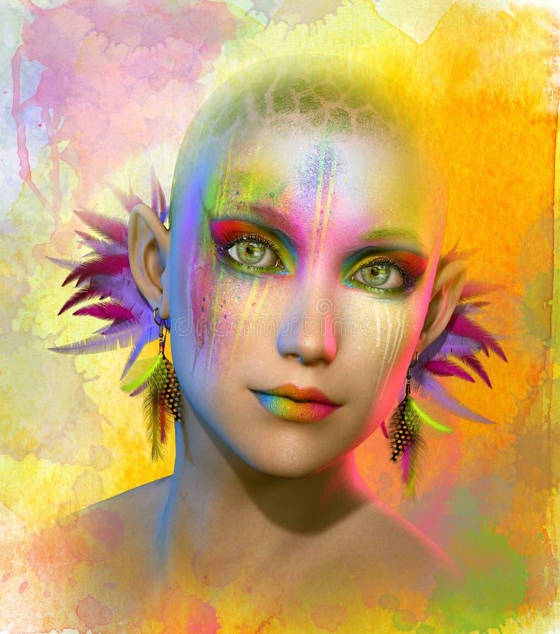 Kolorowe, 3d CG royalty ilustracja