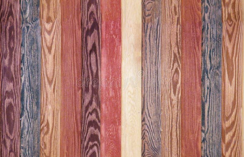 Kolorowe Drewniane tło deski bezszwowy mahoń i brown tekstury podłoga fotografia stock