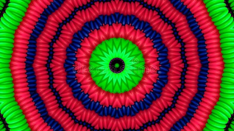 Kolorowe drymby w formie okręgi royalty ilustracja