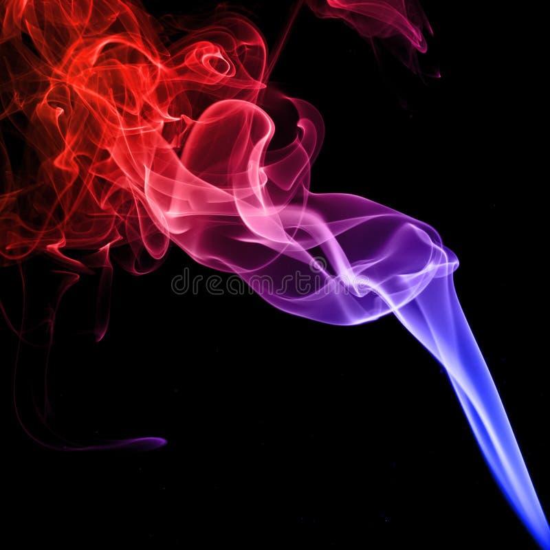 kolorowe dymu fotografia stock
