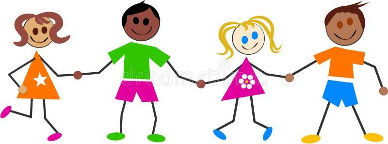 kolorowe dzieciaki ilustracji