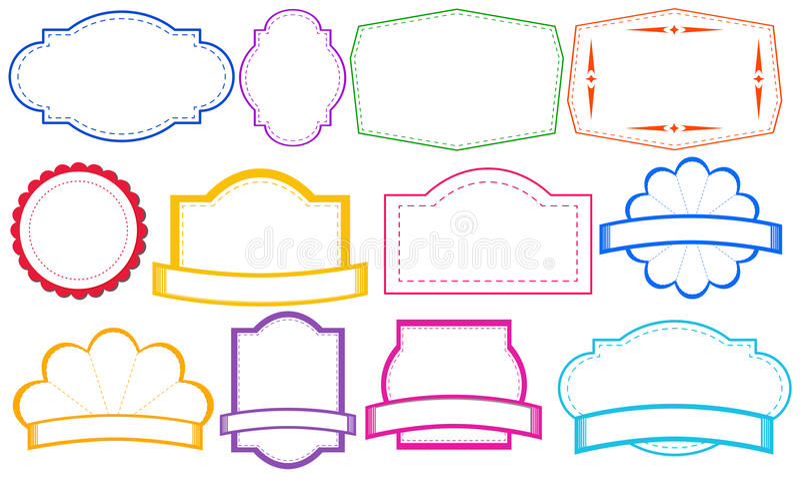 kolorowe etykietki royalty ilustracja