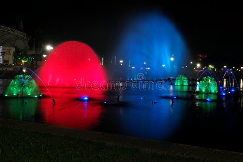 Kolorowe fontanny zdjęcie royalty free