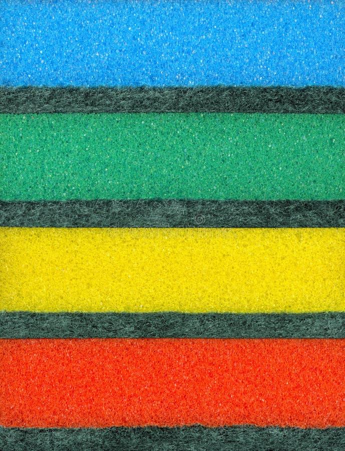 Kolorowe gąbki dla myje naczyń obrazy royalty free