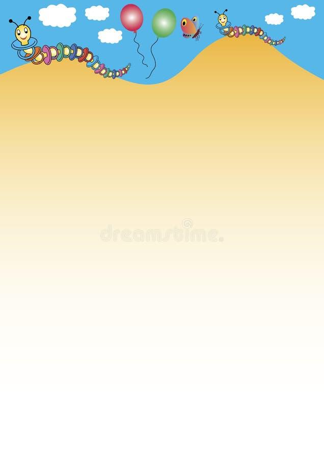 kolorowe gąsienicami ilustracji