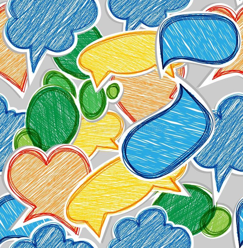 kolorowe gawędzenie chmury ilustracji