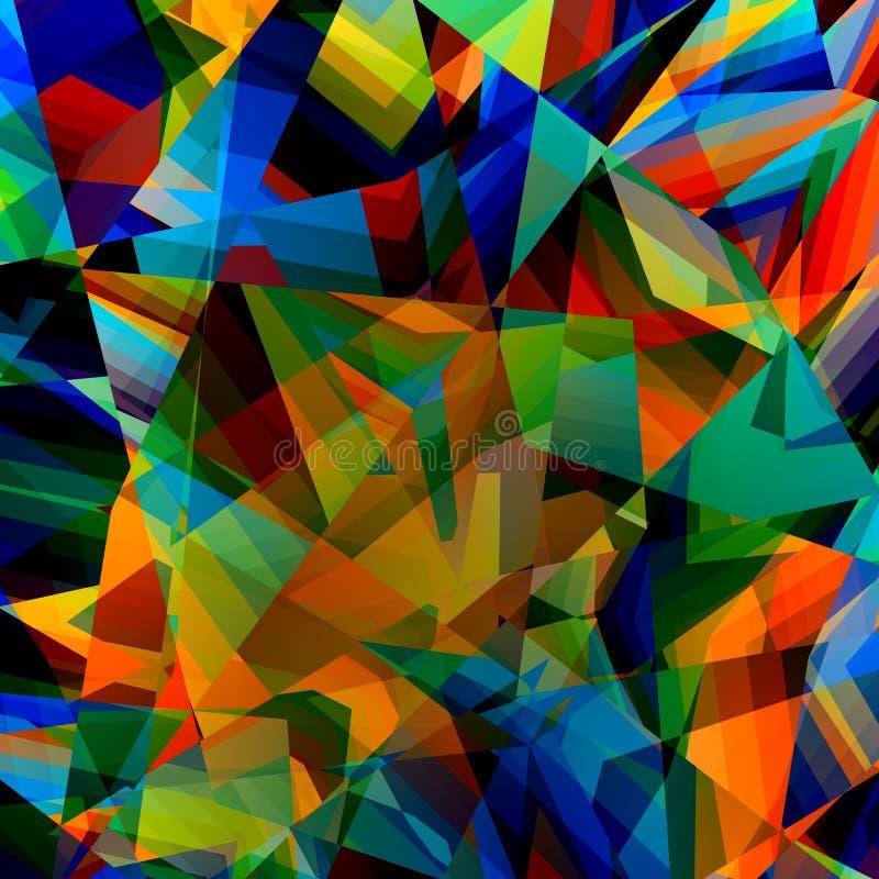 kolorowe geometrycznego tła Abstrakcjonistyczny Trójgraniasty wzór Poligonalna sztuki ilustracja Poli- Stylowy projekt Trójboka p ilustracja wektor