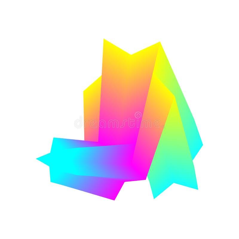 kolorowe geometrycznego t?a Fluidu falowy skład Eps10 Wektor nowo?ytny projekta element royalty ilustracja