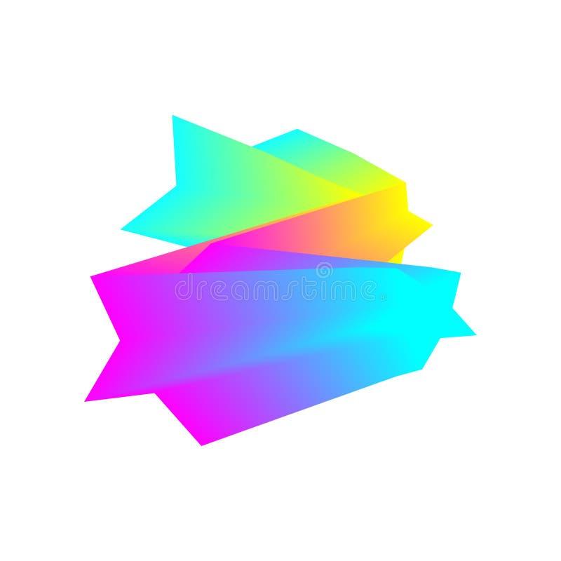 kolorowe geometrycznego t?a Fluidu falowy skład Eps10 Wektor nowo?ytny projekta element ilustracja wektor