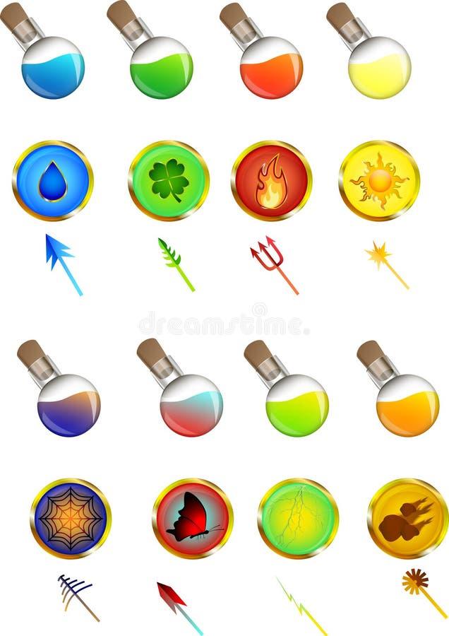 kolorowe ikony ilustracja wektor