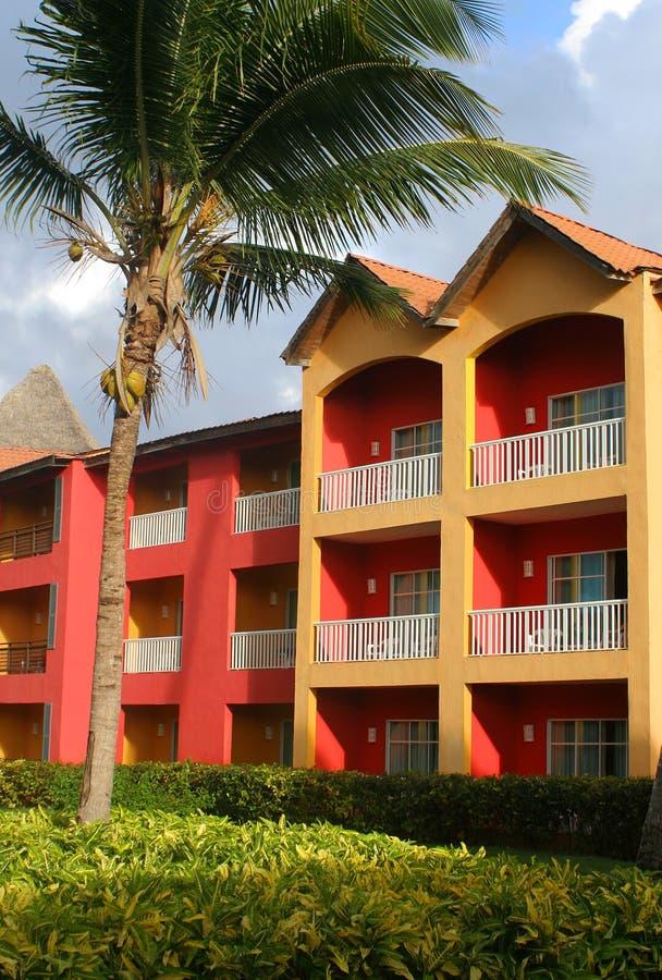 kolorowe karaibów kurort obrazy stock