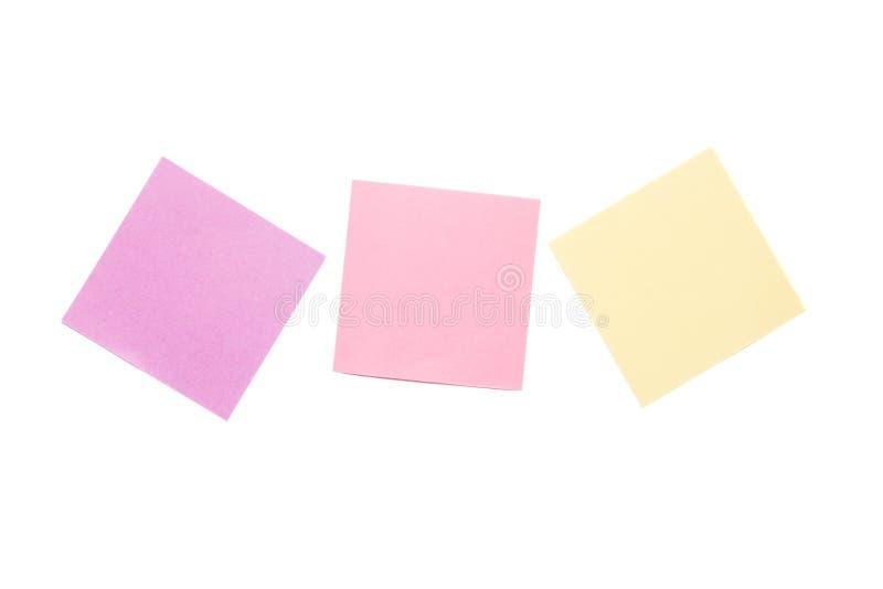 Kolorowe Kleiste notatki odizolowywa? na bia?ym tle zdjęcia royalty free