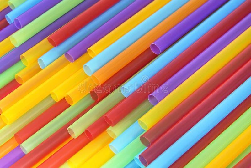 Kolorowe klingeryt tubki dla pić tło zdjęcie stock