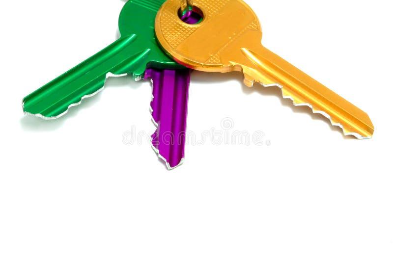 kolorowe klucze do odłogowania obrazy royalty free